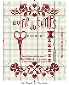 Cross stitched for mini calendar or use as thread winder.
