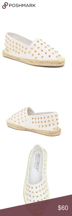 Jacobies Beverly Hills Studied Espadrille  Slip-on Summer espadrille white color. With box. jacobies Shoes Espadrilles
