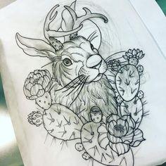 Back Tattoos, Leg Tattoos, Body Art Tattoos, I Tattoo, Sleeve Tattoos, Tatoos, Bunny Tattoos, Rabbit Tattoos, Piercings