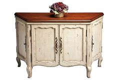 HOME DECOR – FURNITURE – CABINET – Brooke Console Cabinet on OneKingsLane.com