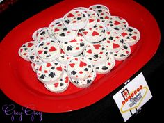 dipped oreo's, but make them look like poker chips!