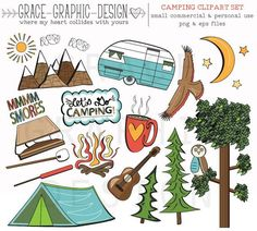 Popular Items For Camper Clip Art On Etsy