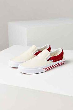 Vans X UO Colorblocked Slip-On Sneaker - Sneakers Sock Shoes, Shoe Boots, Janoski Nike, Vans Shoes Fashion, Custom Vans Shoes, Custom Slip On Vans, Cute Vans, Vanz, Aesthetic Shoes