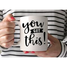 New Job Gift You Got This Mug Coworker Going Away Gift for Coworker... ($16) ❤ liked on Polyvore featuring home, kitchen & dining, drinkware, drink & barware, grey, home & living, mugs, motivational mugs, inspirational coffee mugs and inspirational mugs