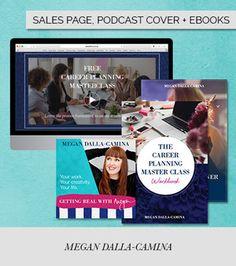 Sales page design, podcast cover design and eBook design for Megan Dalla Camina - design by Alana Wimmer | Raspberry Stripes