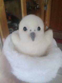 fluffy bird by annakreativ50