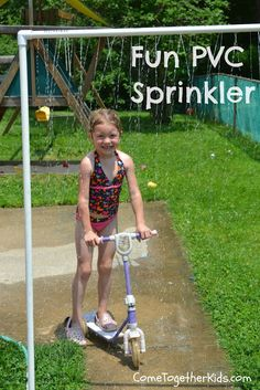 Come Together Kids: Fun PVC Sprinkler.. What kid, dog or adult wouldn't love this on a hot summer day... DIY