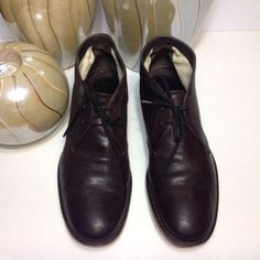 Prada Authentic Men's Boots Shoes Brown Leather Lace Up Size US 8 Italy Fashion   eBay