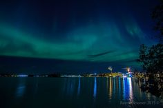 Aurora Borealis above Kuopio, Finland. 7th Oct 2015. Picture by Raimo Pesonen.