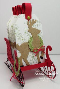 Santa's Sleigh and Tags