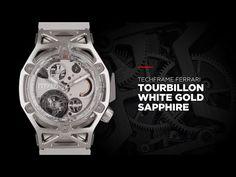 (77) HUBLOT - TECHFRAME FERRARI WHITE GOLD SAPPHIRE - YouTube Watch Video, White Sapphire, Ferrari, White Gold, Watches, Youtube, Wristwatches, Clocks, Youtubers