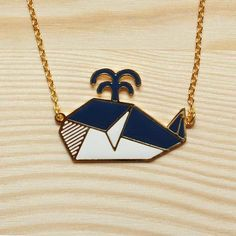 Image of Origami Necklace: Whale *NEW*