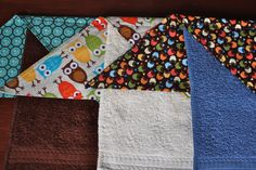 Washcloth Bibs... Thanks Farah!