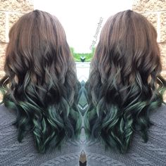 Brown to green ombre