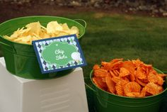 """chip shots"" golf party food ideas -B. Lovely Events #golfparty"