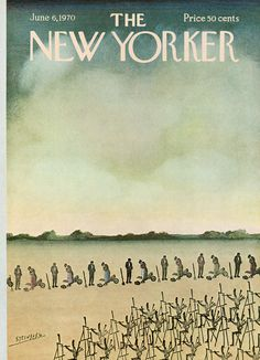 The New Yorker - Saturday, June 6, 1970 - Issue # 2364 - Vol. 46 - N° 16 - Cover by : Saul Steinberg