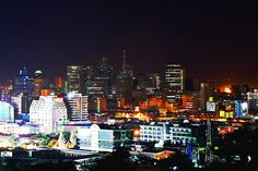 Durban by night colours Durban South Africa, Kwazulu Natal, Good Old, East Coast, South America, Birth, Cities, Landscapes, African