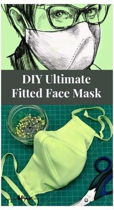 DIY Ultimate Fitted Face Mask - Made By Barb - unique designer pattern #face #mask #design #ideas #diy This is not the typical mask pattern, custom designed to make some improvements where others lack. Free pattern for this Ultimate DIY Fitted Face Mask Easy Face Masks, Diy Face Mask, Homemade Face Masks, Best Face Mask, Sewing Patterns Free, Free Pattern, Pocket Pattern, Clothes Patterns, Free Sewing