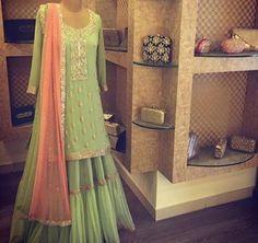 Kurta # lehenga # summer # wedding # pastel combo # Indian fashion