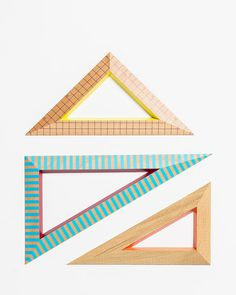 Love these Dasish wooden triangle sets from Hay Owl Clip Art, Wooden Ruler, Stationery Paper, Fine Stationery, Stationary, Mid Century Furniture, Plywood Furniture, Modern Furniture, Furniture Design