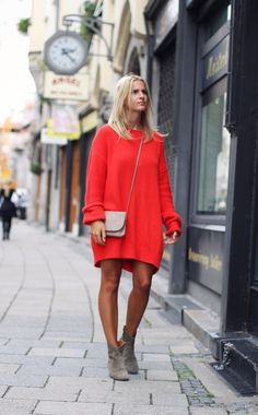 All about it, Sweater Dress.
