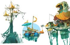 Concept Art for Rayman Origins  by Floony  http://floony.blogspot.com/