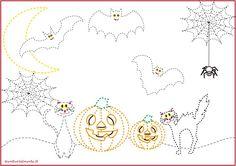 Schede pregrafismo percorsi: disegni di halloween | genitorialmente