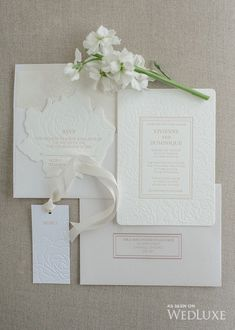 This Glitterati Style File from our latest issue is filled with white eye candy Invitation Card Design, Wedding Invitation Design, Wedding Stationary, Invitation Cards, Wedding Invitation Inspiration, Classic Wedding Invitations, Wedding Inspiration, Wedding Ideas, Wedding Paper