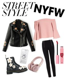 """""""<3"""" by ioana-adelina-1 on Polyvore featuring mode, WithChic, Dr. Martens, Karen Millen, Topshop, Kate Spade, 3 Concept Eyes, contestentry et nyfwstreetstyle"""