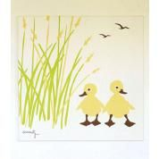 Duck 24x24 Stretched Print: Hemp/Organic Cotton