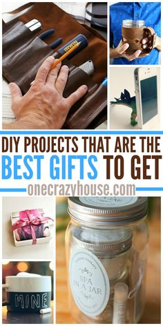 DIY Projects - you can make in an evening - that are the BEST Gifts to Get