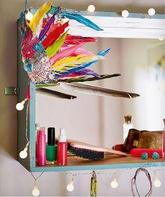 Anleitung für einen Hollywood-Spiegelkasten fürs Mädchenzimmer