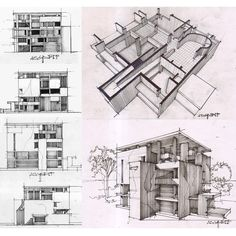 """Study on Shodan house by Le Corbusier"""
