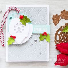 Christmastime is one of our favorite times of the year and so are Christmas cards. Check out today's video tutorial to create this special card.