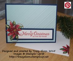 Christmas card created using Six Sayings (Host) Stamp Set and Season of Cheer Designer Series Paper from Stampin' Up!.  http://tracyelsom.stampinup.net