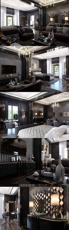 Спальня в стиле Ар-деко - Галерея 3ddd.ru