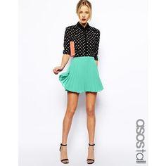 ASOS TALL Pleated Skater Skirt