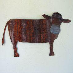 Metal folk art home decor Sheep handmade by TheFrivolousGarden