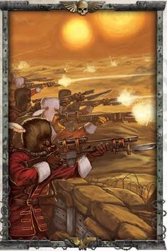 """""""Quiet you dogs! Are you weak-willed agri-worlders, or are you first-born sons of Vostroya? If you receive an order, you act as if the Emperor Himself gave it! Warhammer Imperial Guard, 40k Imperial Guard, Far Future, Warhammer 40k Art, The Grim, Space Marine, Dieselpunk, Concept Art, Art Drawings"""