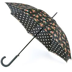 Cath Kidston Bloomsbury Double Canopy Umbrella - Kingswood Rose Charcoal