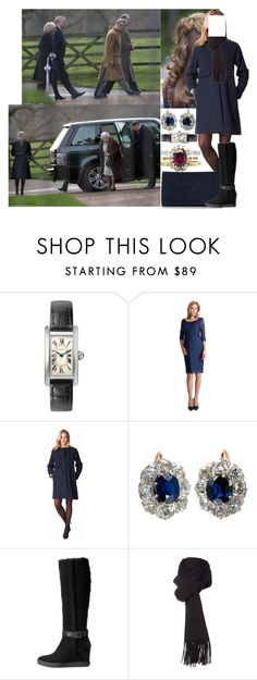 """Attending the morning service at St Mary Magdalene Church in Sandringham with her family after breakfast"" by marywindsor ❤ liked on Polyvore featuring Séraphine, Aquatalia by Marvin K. and Boutique Moschino"