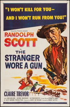 Movie Posters:Western, The Stranger Wore a Gun (Columbia, 1953). One Shee... Image #1