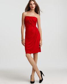 Issa London Side Pleat Silk Strapless Dress & more | Bloomingdale's