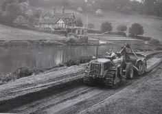 In 1954 an wide footpath was cut beside the River Severn in The Quarry. A workman carves out the path on or about June. Shrewsbury Shropshire, River Severn, Historical Pictures, Pheasant, Heavy Equipment, Old Photos, Tractors, Paths, The Past