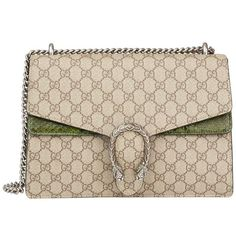 Preowned Gucci Gg Supreme Coated Canvas & Green Python Leather Medium... (196,950 INR) ❤ liked on Polyvore featuring bags, handbags, green, structured shoulder bags, pink handbags, shoulder handbags, green leather purse, pink leather handbags and leather shoulder bag