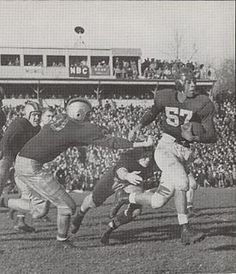 AN ORIGINAL BALTIMORE COLT: GeorgeTaliaferro, a halfback, quarterback, and punter. Selected by the Chicago Bears in the 13th round of the 1949 NFL Draft, making him the 1st African American drafted by a pro football team. He chose to play with the Los Angeles Dons of the All-America Football Conference in 1949. He moved to the NFL New York Yanks '50-51', Dallas Texans '52,' Baltimore Colts '53-54.'. He also is a member of Kappa Alpha Psi fraternity.