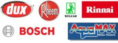 It doesn't matter what brand of hot water service you have we know them all. Rinnai, Rheem, Bosch, Vulcan, Thermann and Aqua Max