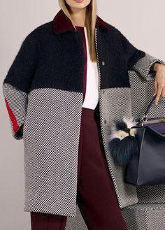 coat and dress outfit Iranian Women Fashion, Womens Fashion, Coatdress, Mode Mantel, Dress Codes, Winter Coat, Winter Fashion, Fashion Coat, Blazers