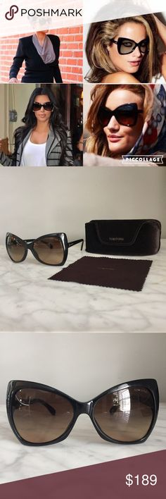 Tom Ford Iconic Nico Butterfly Sunglasses TF 175 Authentic Tom Ford Nico Sunglasses style TF 175 in Black. I've had these for 6 years and taken very good care of them. Very minor scratches from normal wear over the years. They're still in great shape. **Includes the original velvet case and cleaning cloth! Tom Ford Accessories Sunglasses