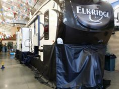 Here we are at RV America, seems we spend a lot of time here working on customers new RVs. www.rvskirting.com